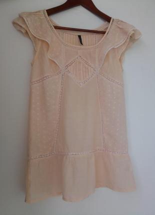 Супер легкая летняя  шелковая  блуза naf-naf