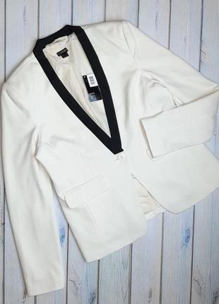 💥1+1=3 модный женский белый пиджак esmara, размер 46 - 48