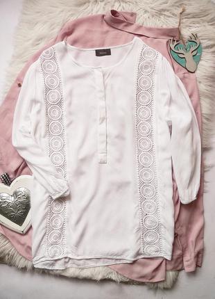 Блуза с кружевом yessica размер l