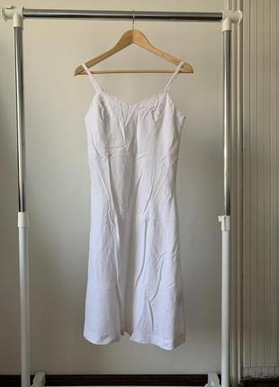 Белок лёгкое льняное платье amisu