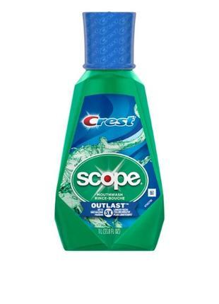 Ополаскиватель crest scope mouthwash rince-bouche outlast, 1000мл