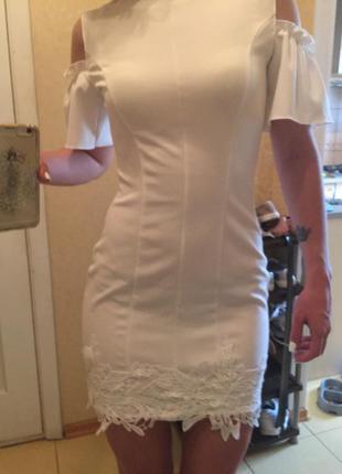 Белое, летнее платье molegi