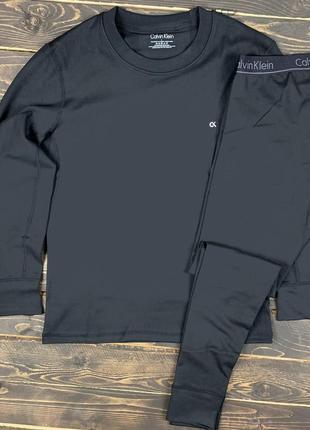 Мужское зимнее термобелье ck, качественный материал, цвет серый. очень теплое, до -20.