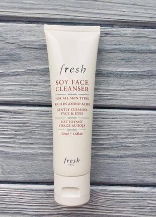 Очищающий гель для умывания fresh soy face cleanser 50 мл
