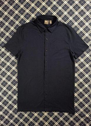 Крутая тенниска (рубашка) asos синего цвета размер m