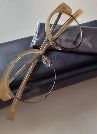 Новая титановая оправа jil sander унисекс очки круглая оригинал премиум