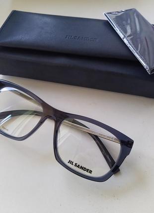 Новая оправа jil sander очки премиум оригинал сине-серая полупрозрачная шик