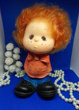Незнайка кукла ссср днепропетровского завода игрушек мальчик пупс советский