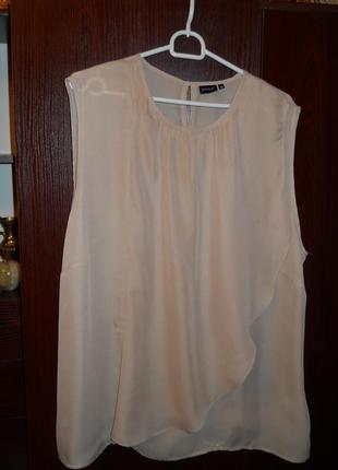 Блузка без  рукавов 54 размера