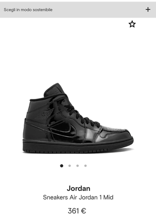 Новые кроссовки jordan (nike air jordan) хайтопы ботинки чёрный глянец лакированные