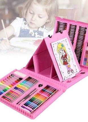 Набор для рисования и творчества в чемоданчике с мольбертом 208 предметов