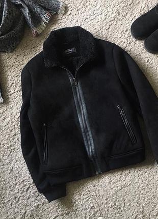 Дубленка куртка из еко замши новая, бренд, качество