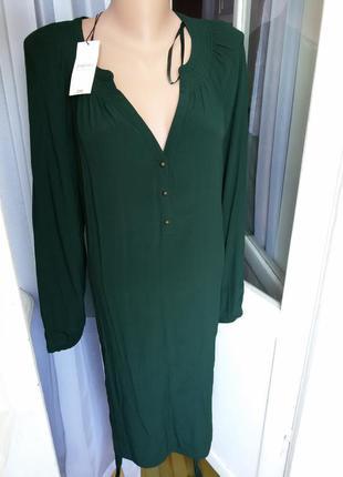 Стильное платье рубашка papaya с поясом 100% вискоза