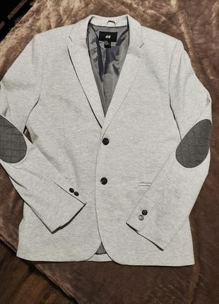 Стильный пиджак жакет с подлокотниками коттоновый