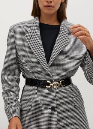 Шерстяной удлиненный пиджак бойфренд оверсайз с объёмными плечами! 100%шерсть