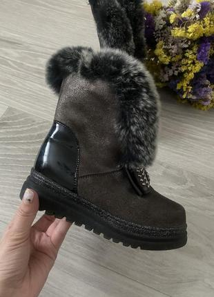 Зимние сапоги ботинки tiflani цигейка