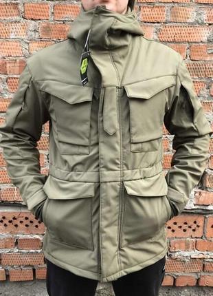 "Куртка парка ""outdoor tactical"" черная, хаки."