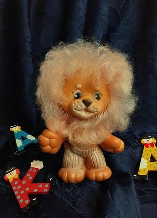 Бонифаций лев львенок ссср резиновая игрушка донецкого завода игрушек