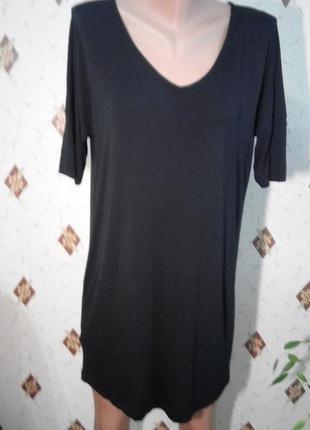 Платье туника из вискозы с интересной спинкой