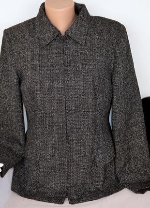 Брендовый пиджак жакет на молнии с карманами bhs македония вискоза