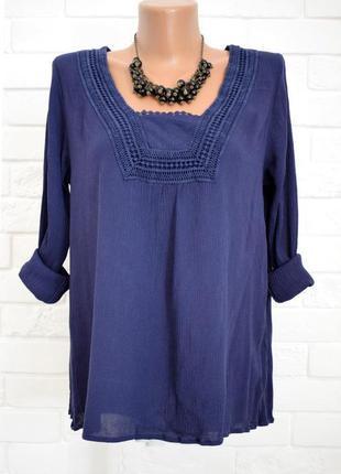 Этно блуза из вискозы с кружевом matalan uk10 в идеальном состоянии