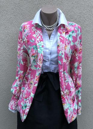Легкий жакет,пиджак,блейзер,кардиган в бельевом стиле,вискоза,rich & royal
