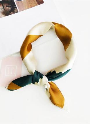 Платок на шею бант на сумку голову волосы чалма повязка хустка искусственный шелк