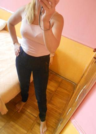 Штаны брюки темно-синие