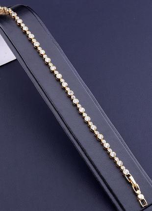 Браслет 'xuping' фианит 17 см. (позолота 18к) 0866600.