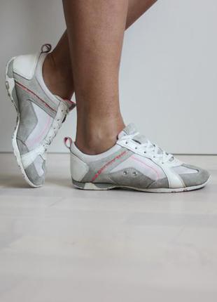 Кожаные замшевые кроссовки, бренд geox оригинал