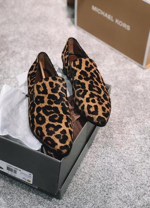 Лоферы туфли леопардовые, оригинал, натуральная кожа, размеры: 37, 37.5, 38, 38.5, 40/40.5