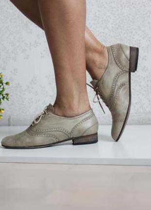 Кожаные оксфорды, туфли, монки, натуральная кожа лаечка