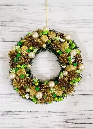 Декор, новогодний венок / декор, новорічний вінок на двері