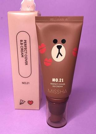 Тональный крем missha m perfect cover bb cream spf42 pa +++ №21