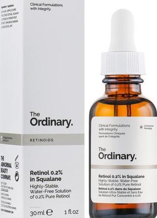 The ordinary - retinol 0,2% in squalane - сыворотка с ретинолом