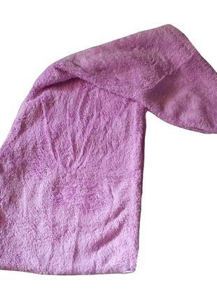 Полотенце для сушки волос. чалма. тюрбан.  с пуговицей.
