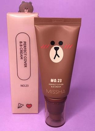 Тональный крем missha m perfect cover bb cream spf42 pa +++ №23