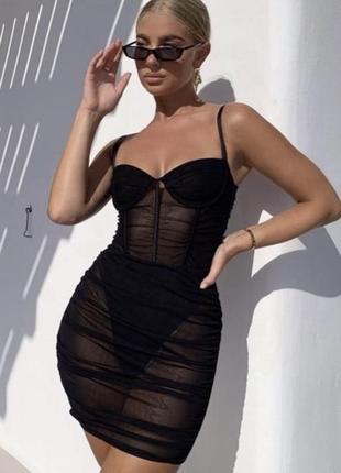 Платье боди секси oh polly сетка