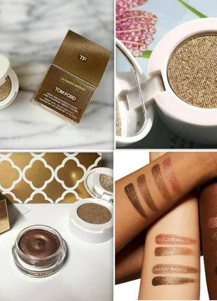 Кремовые тени tom ford cream and powder eye color оттенок naked bronze