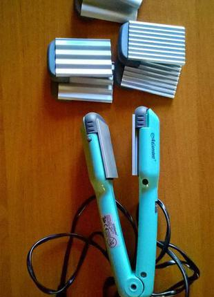 Утюжок для вирівнювання волосся з різними насадками