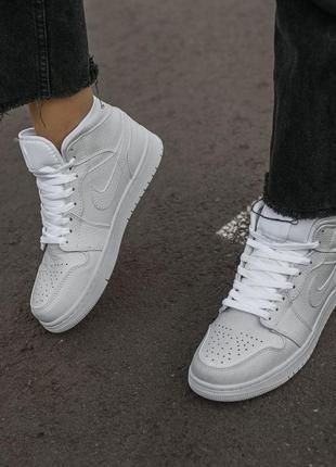 Кроссовки air jordan retro 1 all white