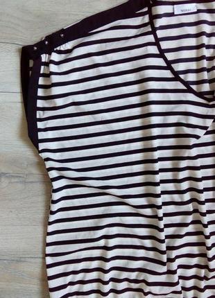 Супер блуза, милий полосатик, великий розмір, блуза большого размера