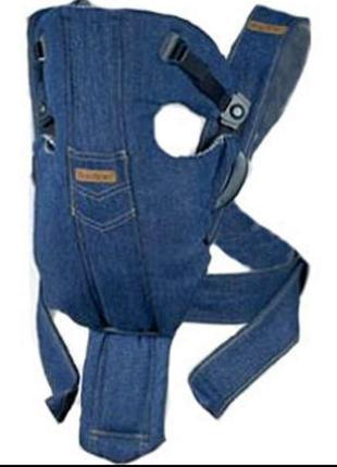 Джинсовый рюкзак кенгуру babybjorn