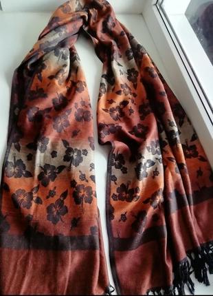 Італійський фірмовий кашеміровий шарф, шаль, палантин pashmina!!!