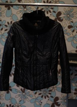 Куртка из эко кожи с хомутом m кожанка