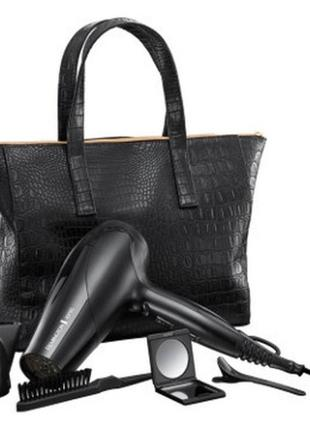 Фен з іонізаціє. 2300w + мумка чорна сумочка + дзеркало + 2 заколки