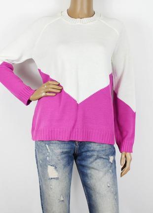 Новый белый с розовым свитер asos