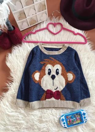 Детский свитер с обезьянкой 🐵 🎄