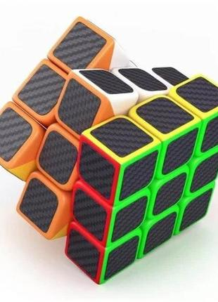 Кубик рубика 3х3х3 карбон +подарок