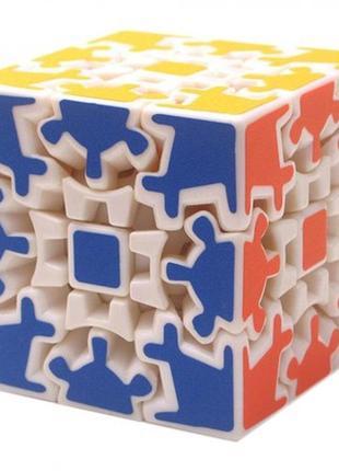 Кубик рубика 3х3х3 на шарнирах белый (блистер)+подарок